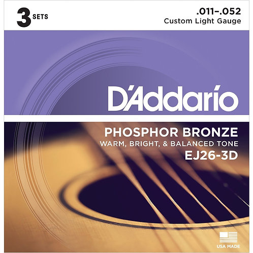 D'Addario EJ26-3D Acoustic Guitar Strings