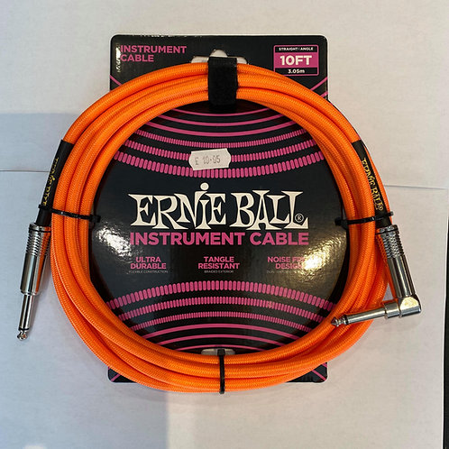 Ernie Ball 3M/10FT Instrument Cable Orange