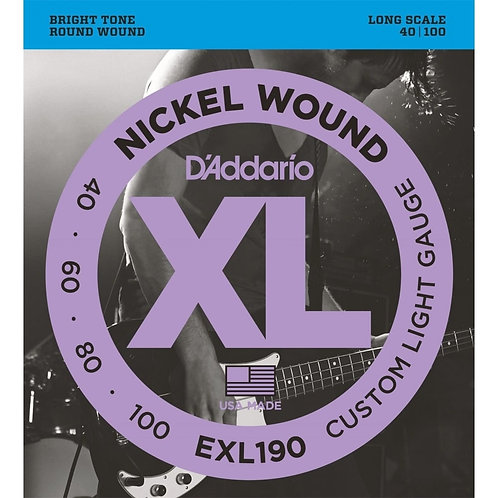 D'Addario EXL190 Custom Light Bass Guitar Strings