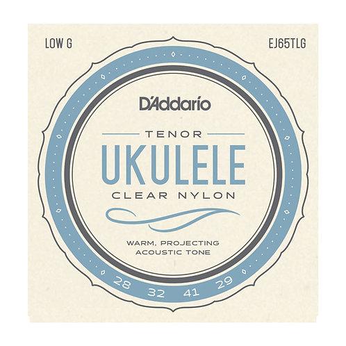 D'Addario EJ65TLG Clear Nylon Tenor Ukulele