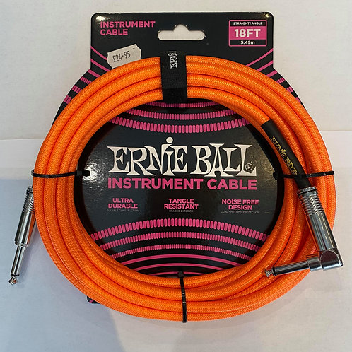 Ernie Ball 5.49M/18FT Instrument Cable Orange