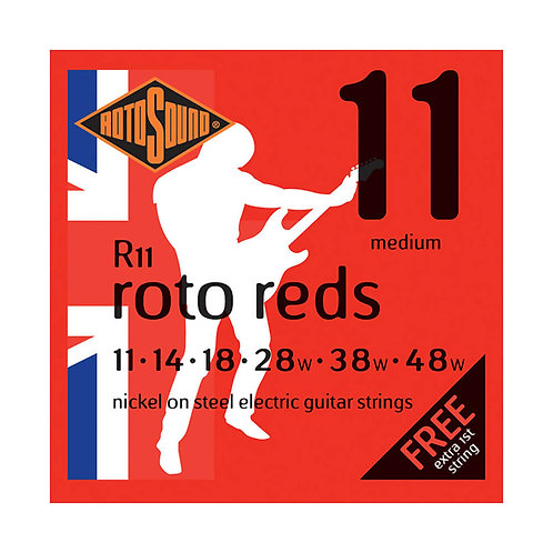 Rotosound R11 11- 48 Roto Red Electric Guitar Strings