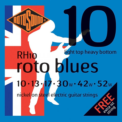 Rotosound RH10 10-52 Roto Blues Electric Guitar Strings