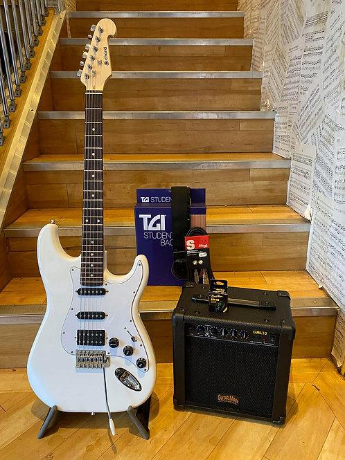 Electric Guitar Chord CAL64 HSS Pack 1 - WH