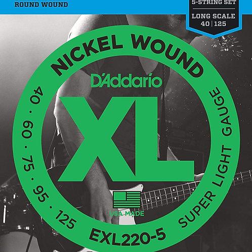 D'Addario EXL220-5 Super Light 5-String Bass Guitar Strings