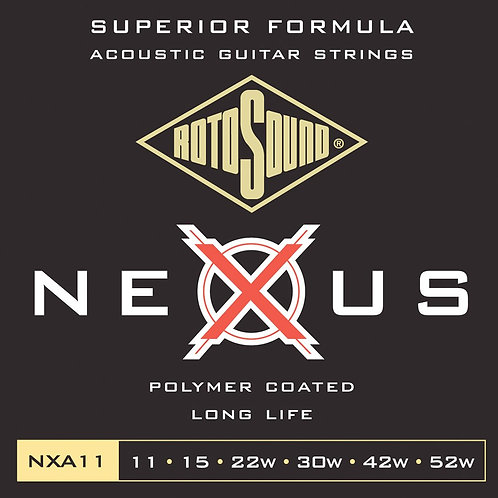 Rotosound NXA11 Coated Acoustic Guitar Strings
