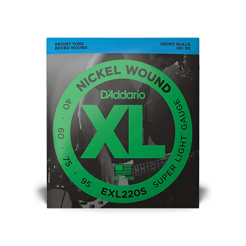 D'Addario EXL220S Super Light Short Scale Bass Guitar Strings