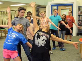 Dancing 8th graders!