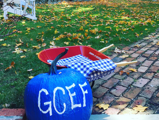 Look for the GCEF blue pumpkin!