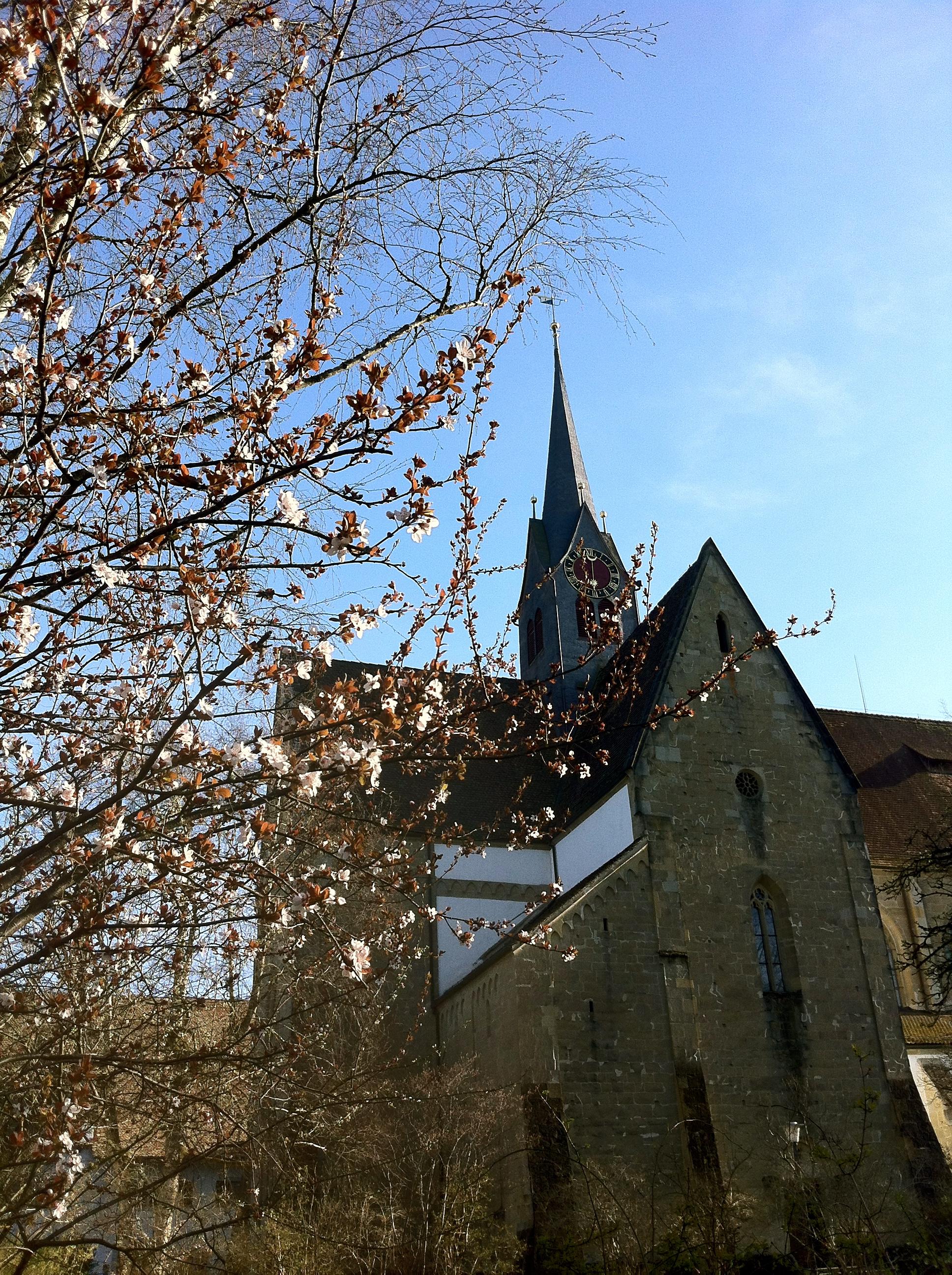 Frühling vor der Kirche