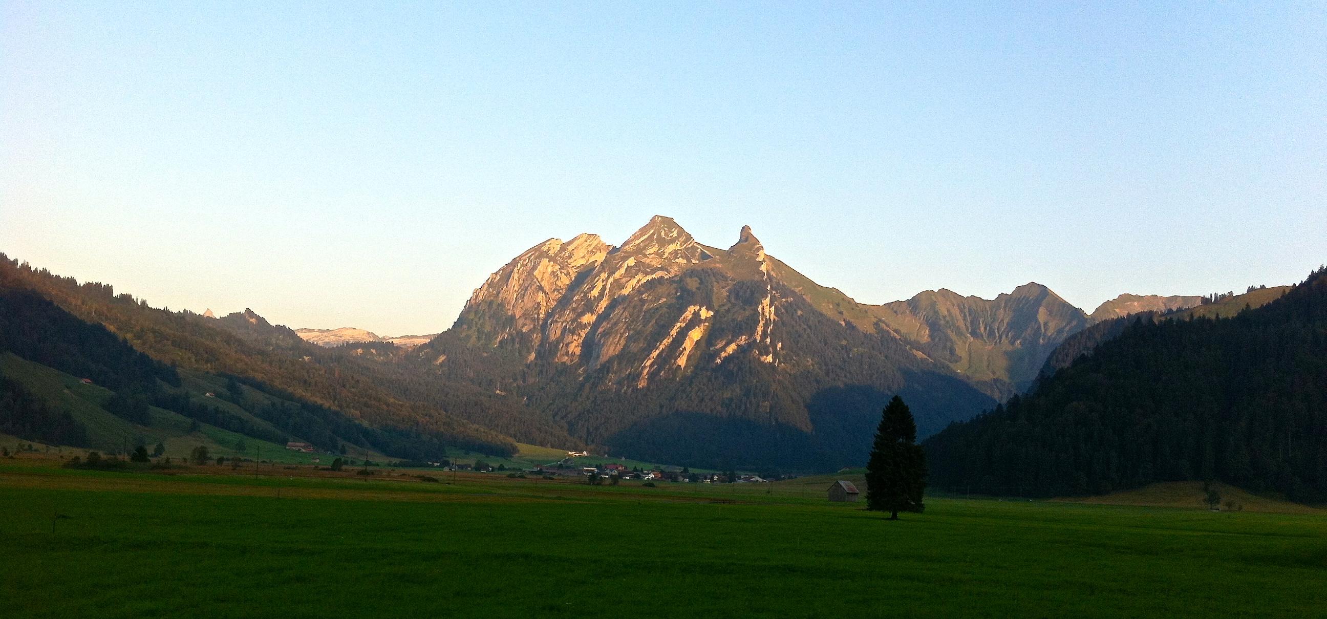 Abendsonne Fluebrig, Sihlsee