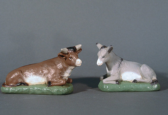 Esel und Ochse