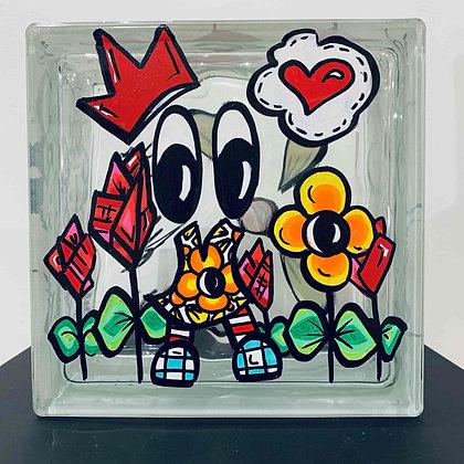 Pavé de verre Le Mur du Bonheur - n°450 par ASOP