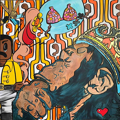 tableau pop art de l'artiste ASO-P exclu Artopic Gallery à Toulouse