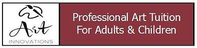 Art innovations logo banner burgundy sni