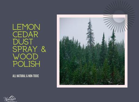 Lemon Cedar Dust Spray & Wood Polish