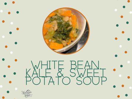 White Bean, Kale & Sweet Potato Soup