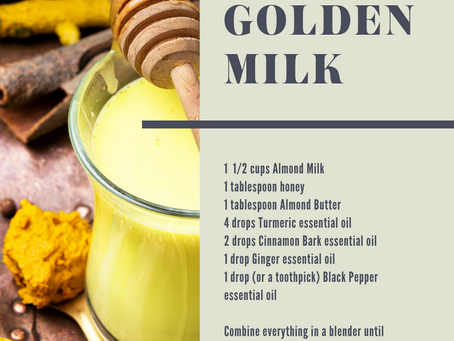 Golden Milk - a yummy way to get the benefits of Turmeric