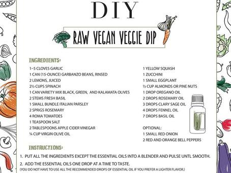 Raw Vegan Veggie Dip