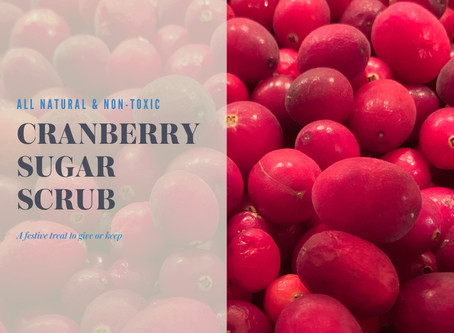 Cranberry Sugar Scrub