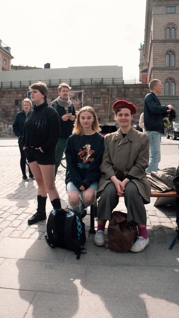 Meeting Young Protestors, Stockholm, Sweden