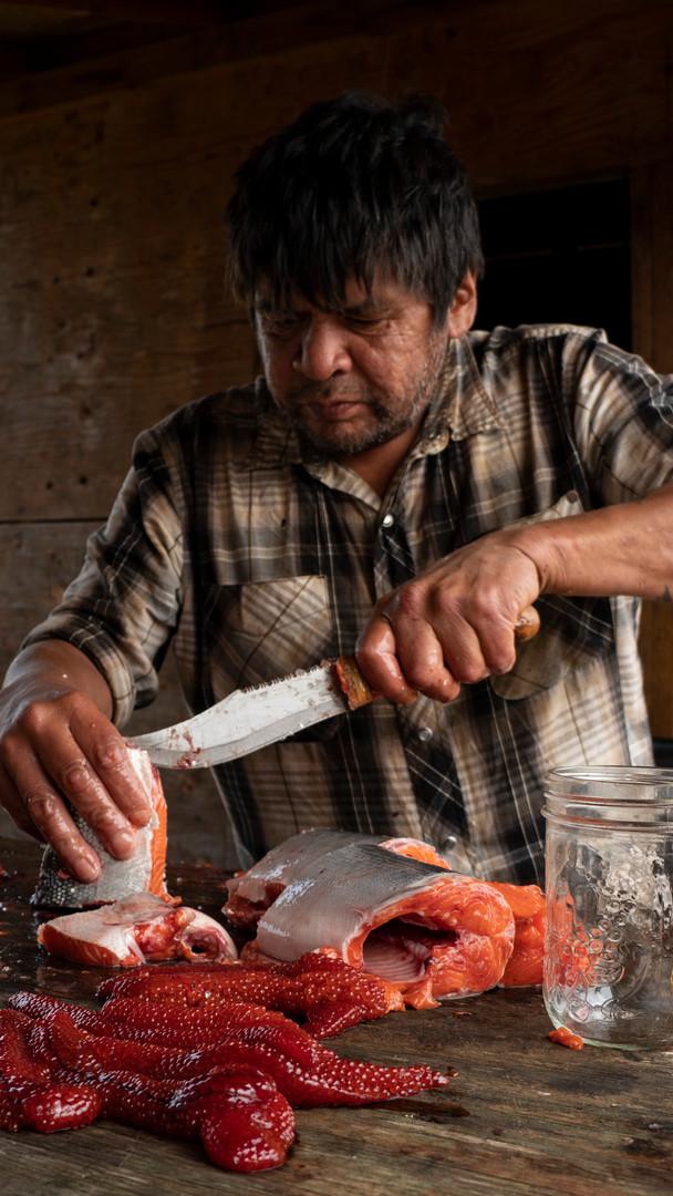 Cutting Fish, Alert Bay, British Columbia