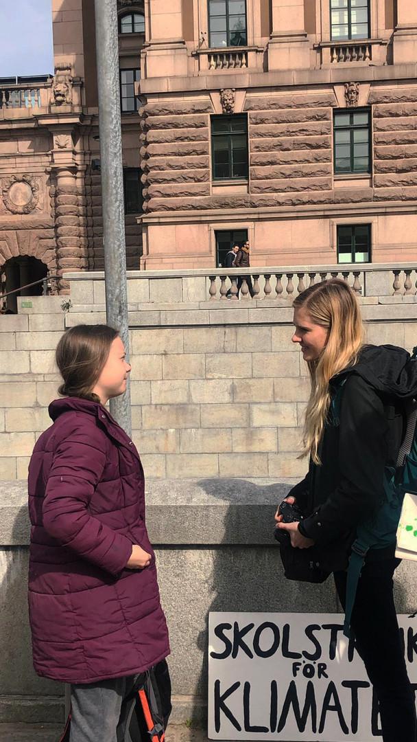 Meeting Greta, Stockholm, Sweden