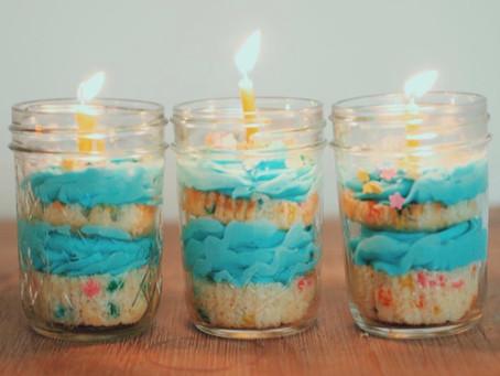 OMG! Cutest Idea For a Birthday - Cake in a Jar!