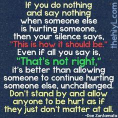 Bystanders, Do Something Please!