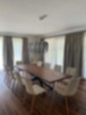 Baumtisch, Tisch, Holztisch, Massivholztisch, Tischgestell für Massivholzplatten