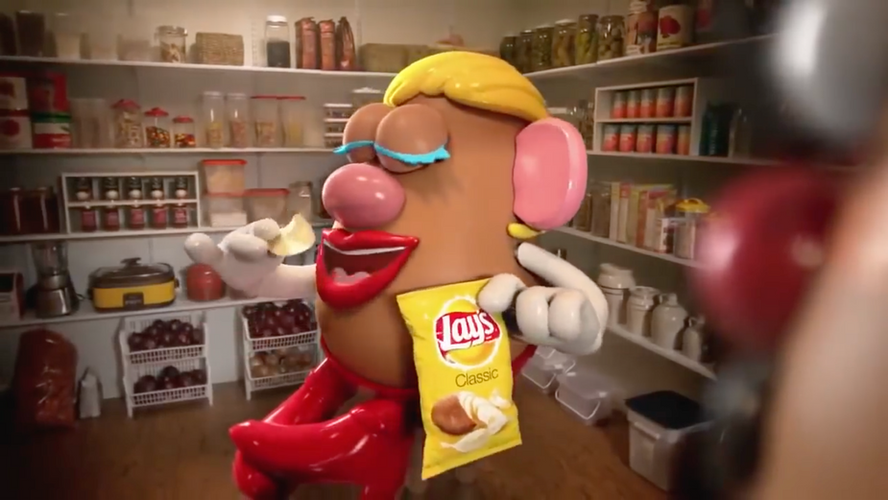 """Mr. and Mrs. Potato Head"" - Lays"