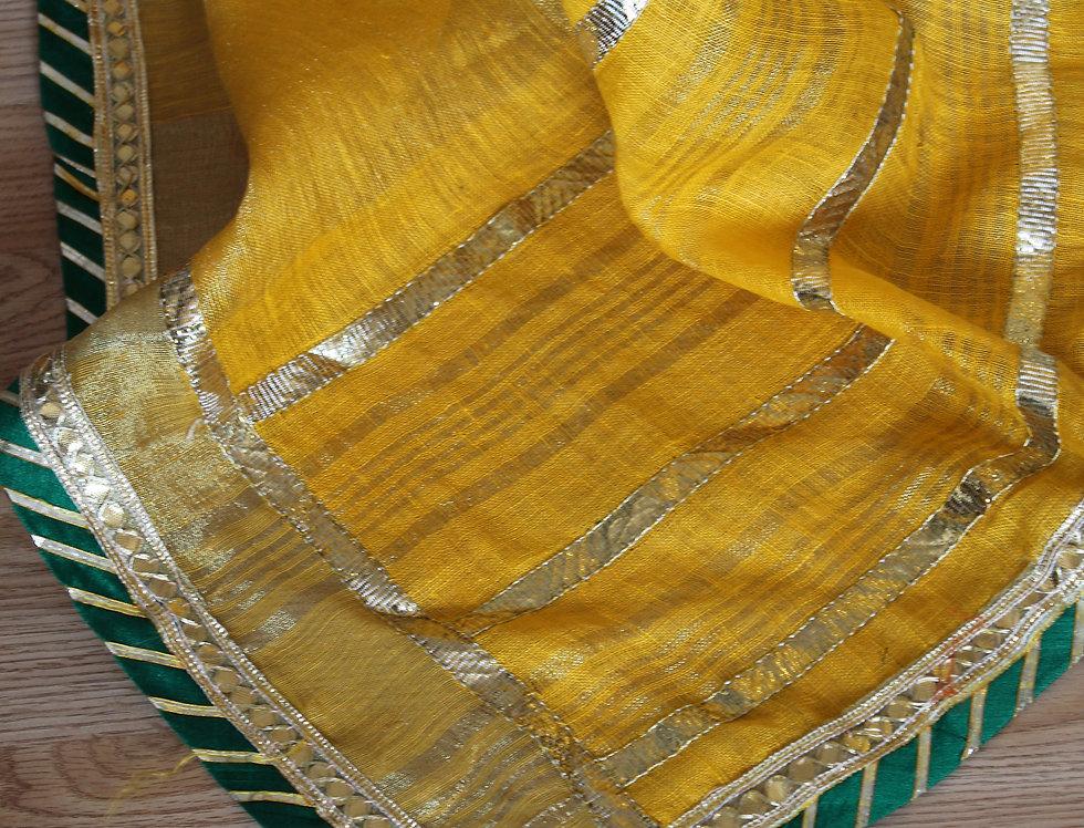 Mango Linen Saree