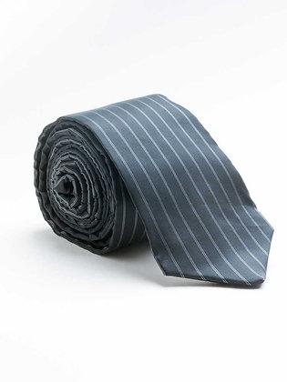 Zijde, zwart & grijs gestreept - Soie, noir & gris