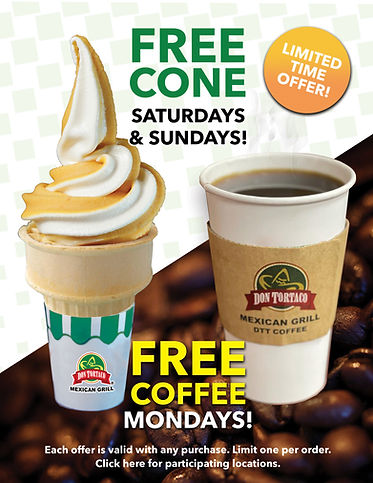 Don Tortaco Free Cone Free Coffee For We