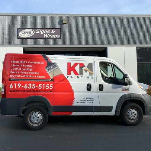 KM Painting Partial Vehicle Wrap