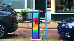 Amsterdam's EVBox electric vehicle chargers receive rainbow makeover to help support LGBTQ youth