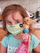 Kim's daughter - created a COVID mask fo