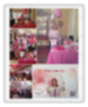 Wigs, hairpieces, Pink event
