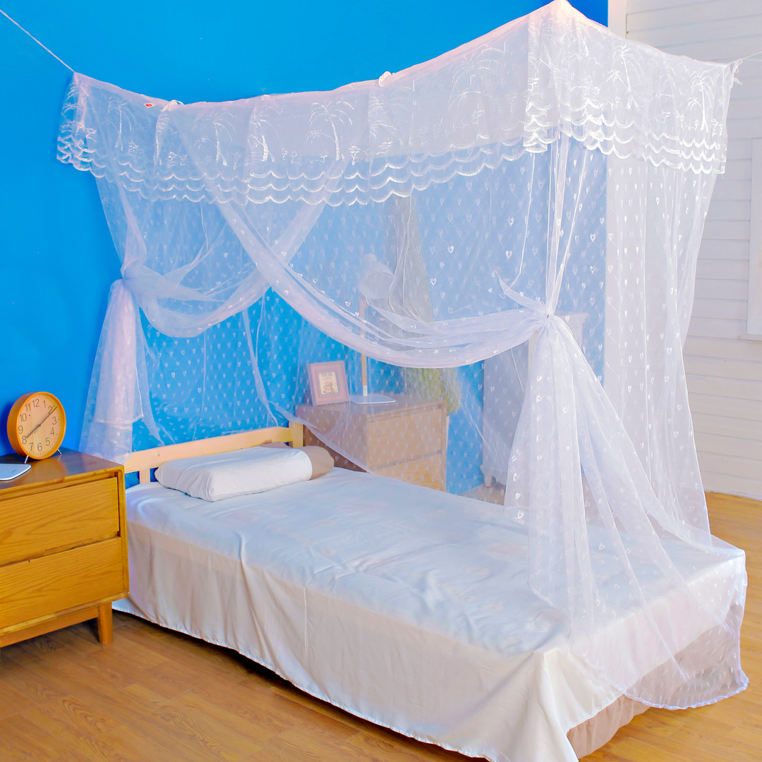 Mosquito net bed canopy for single beds
