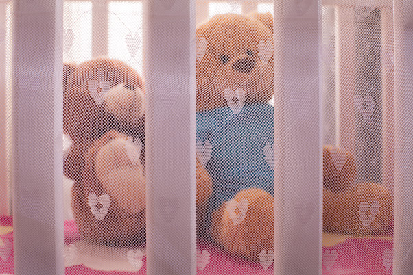 See your kid through the cute mesh