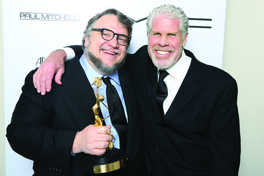 Guillermo Del Torro and Ron Perlman