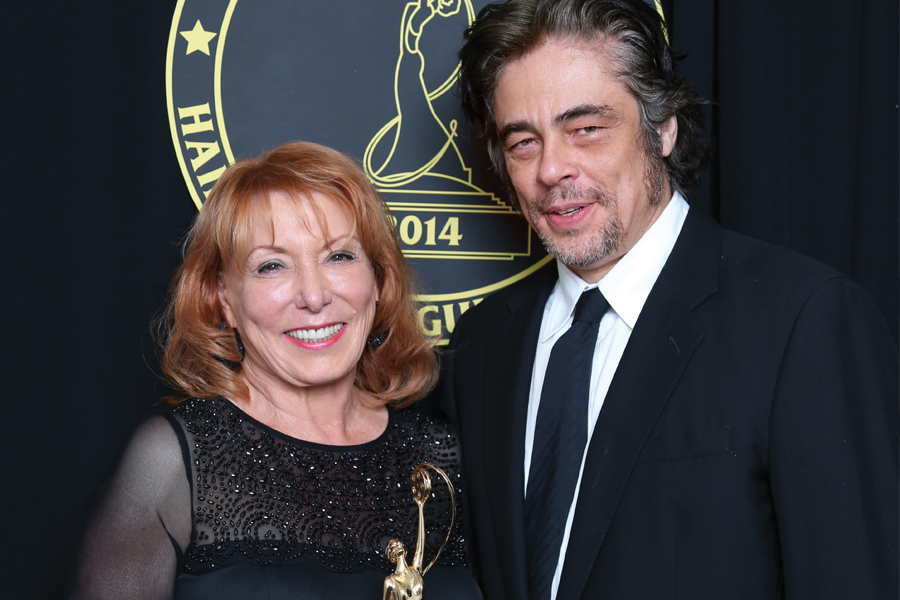 Gail Ryan and Benicio del Toro