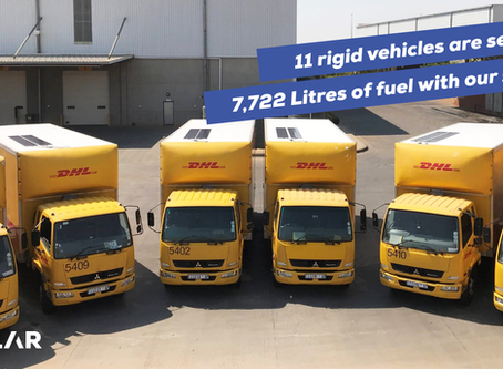 DHL Supply Chain South Africa, drives towards annual saving of 7,722 litres with TRAILAR