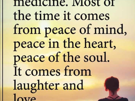 Meditation is medicine for the mind, Nature is the medicine of the soul...