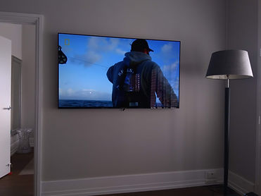wall mounted tv's in Auckland city apartment