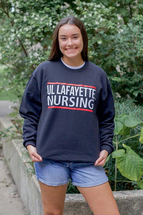 "Black Classic ""UL Lafayette Nursing"" Sweatshirt"