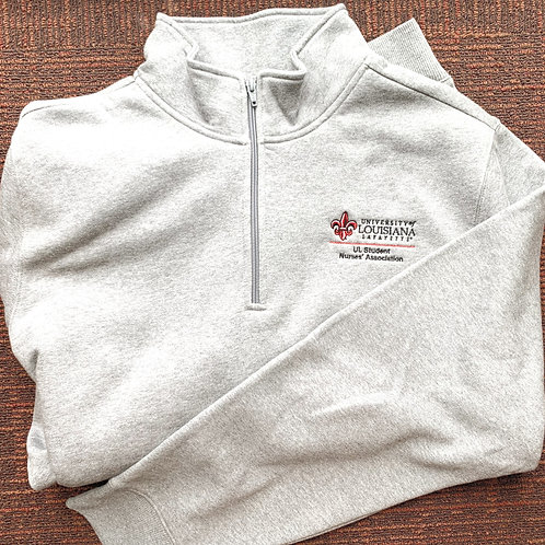 "Quarter Zip Grey ""ULSNA"" Pull Over"