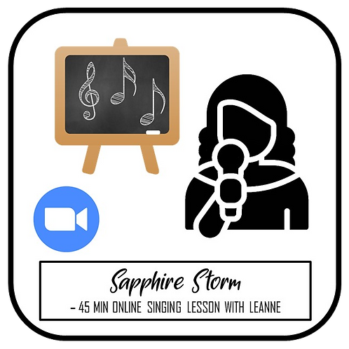 45 min Singing Lesson with Leanne Thorose