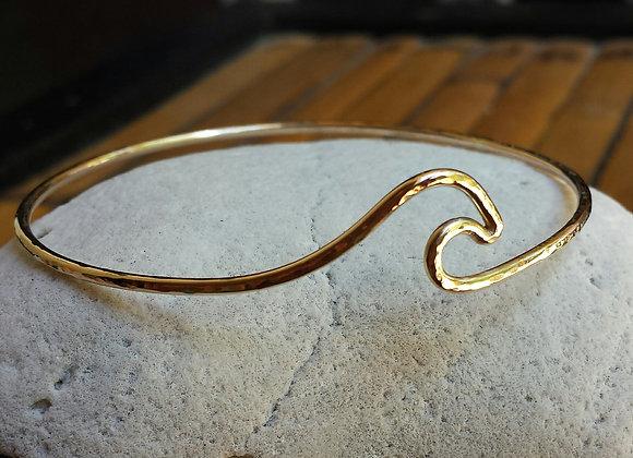 custom Order for Andrea  Rose Gold Wave Bangle 14 Karat gold filled