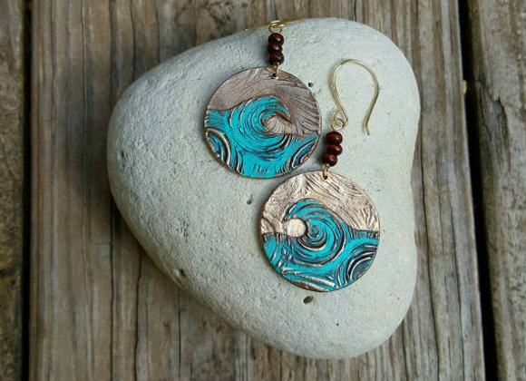 Moving Wave Earrings